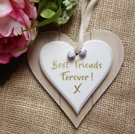 Double Heart Best Friends Forever